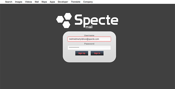 Specte Webmail Server and Interface